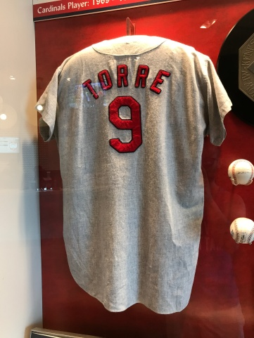 Vintage game-used Joe Torre jersey from his playing days