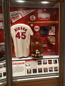 Bob Gibson game used jersey