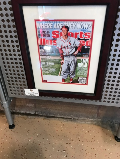 Stan Musial, deceased HOF'er, who's autograph is cheaper than Kris Bryant's in Chicago