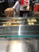 Donuts being made