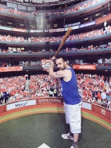 I am literally holding Stan Musial's game used bat from 1951