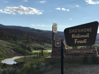 Entrance to Shoshone National Forest