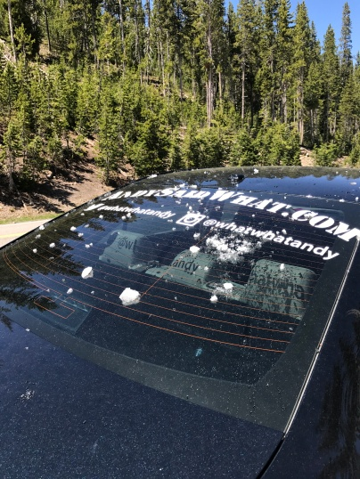Someone (ME) threw snow at my car