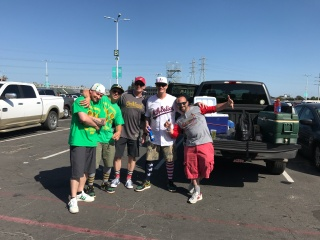 Some of my favorite people from the trip, these dudes are as hardcore of fans as any I've met at any ballpark. They sure did welcome this guy in, thanks guys!